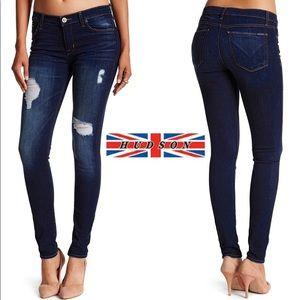 Hudson Krista Super Skinny Dhyana Destroyed Jeans